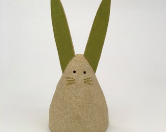 Large rabbit / hare / bunny ceramic ornament. Indoor or garden.