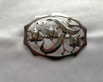 Vintage Bauring Silver Brooch