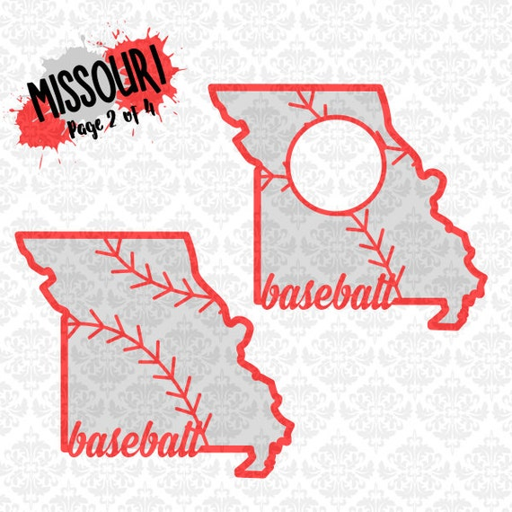 Missouri Baseball Laces Monogram Softball Fastpitch SVG DXF PNG Ai Eps Scalable Vector Instant Download Commercial Use Cricut Silhouette