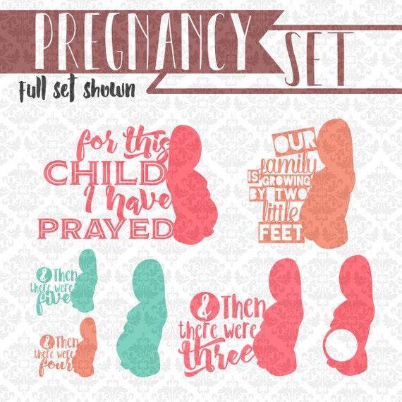 Pregnancy Set For This Child I Have Prayed SVG DXF Ai Eps Scalable Vector Instant Download Commercial Use Cutting File Cricut Silhouette
