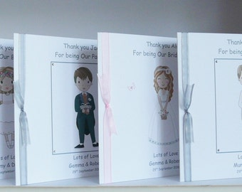 Thank you for being our Bridesmaid/Maid of Honour/Best Man/Usher/Page Boy/Flower Girl etc Card Large 8x8 inch Personalised