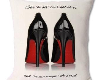 46 x46 cm louboutin shoe cushion