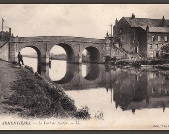 24x36 Poster . Pont De Nieppe Northern France 1915