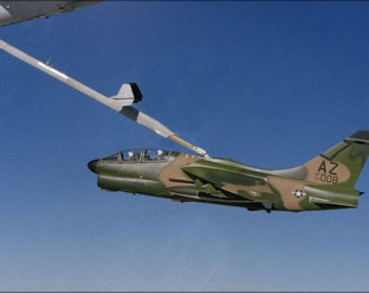 24x36 Poster . Ya-7K Corsair Ii A-7 162Nd Fw, Arizona Air National Guard