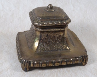 Plated Brass Inkwell