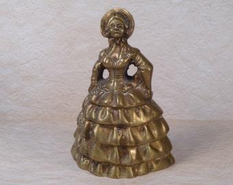 Brass Victorian Belle of the Ball Bell