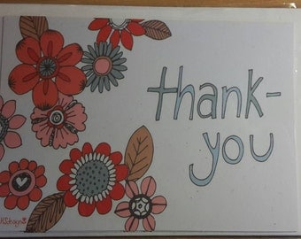 Modern thank you cards - pack of 6