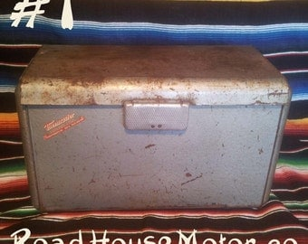 Thermaster Refrigerator by Poloron, Vintage Picnic Cooler, ice box, cool box.