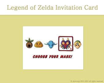 Printable Birthday Card Legend Of Zelda Greeting Cards Jpg 340x270 Happy