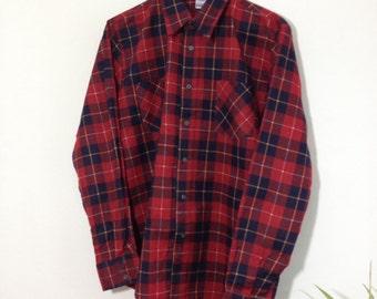 Vintage Red Lumberjack Check Shirt