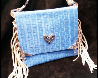 Light Blue Heart Bag