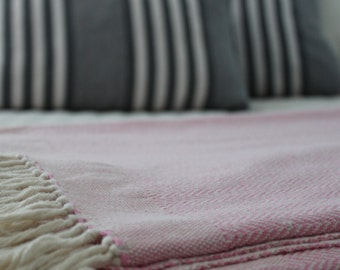 Herringbone Cotton Handwoven Blanket