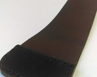 Narrow Brown Leather Bicycle Mud Flap club rider - choose your trim! -  upcycled