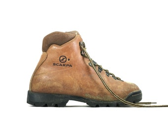 Size 7.5 - Scarpa Women's Italian Hiking Boots Brown Leather