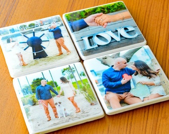 Wedding Coasters Custom Coasters Personalized Coasters Photo Coasters Wedding Gift Ceramic Coasters Gifts For Women Gifts Under 30