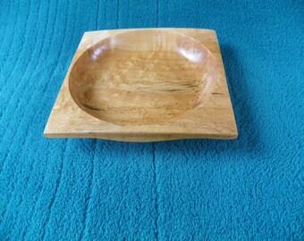 Small Square Birdseye Maple Dish  #332