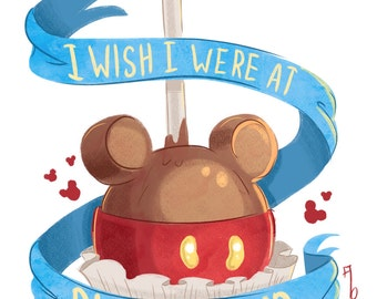 I wish I were in Disneyland - A4 Print