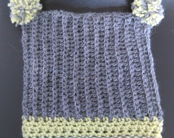 Crochet Pom Pom hat # 208