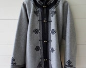 Asian Jacket -Boiled Wool, Brand New, 4 COLORS AVAILABLE, Mongolian, Intricate Detailing, Ethnic Dress, International Clothing, Never Worn
