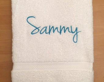 Monogrammed Towel - Personalized Towel - Cottage Towels - Graduation Gift - Personalized Kid's Towel - Personalized Bath Towel
