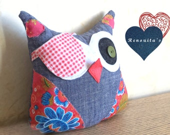Pirate stuffed Owl kid's room decor - stuffed owl toy - stuffed owl pillow - stuffed cushion - nursery decor