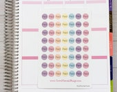 Itty Bitty Paid Stickers - pastel color theme