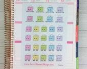 Kawaii Tissue Box/Sick Day Stickers