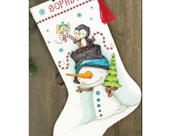 Dimensions Cross Stitch Kit - Jolly Trio Stocking #70-08937