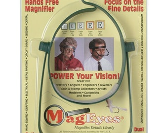 MagEyes Magnifier with #2 (1.6x) & #4 (2.0x) Lenses, #1254