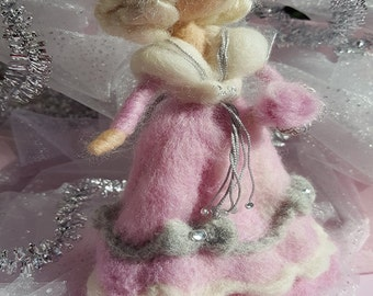 Needle felted Waldorf figurine Belle Epoque