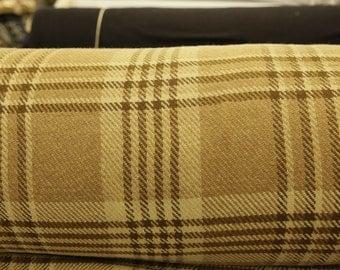 Large Brown Plaid Wool