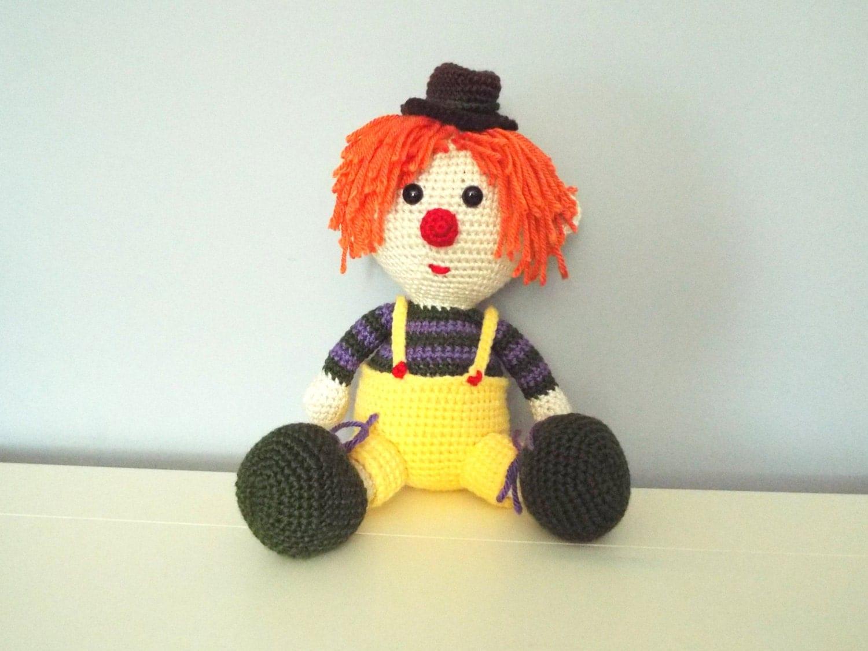 Crochet clown Doll Amigurumi Kids toys Circus Gifts ideas ...