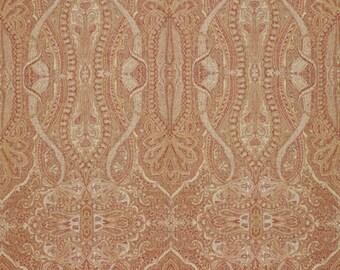 SCALAMANDRE PERSIAN INVERNESS Paisley Wool Jacquard Fabric 10 Yards Spice Multi