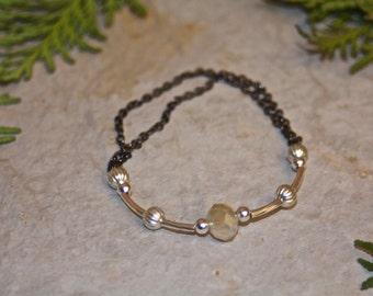 Crystal & Silver Stretch Bracelet