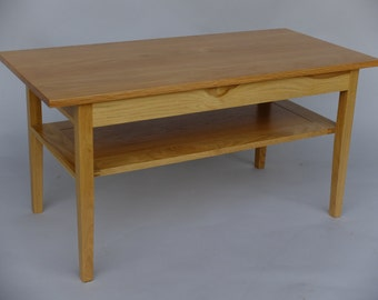 Solid Oak Coffee Table, Shaker Syle Lounge Table