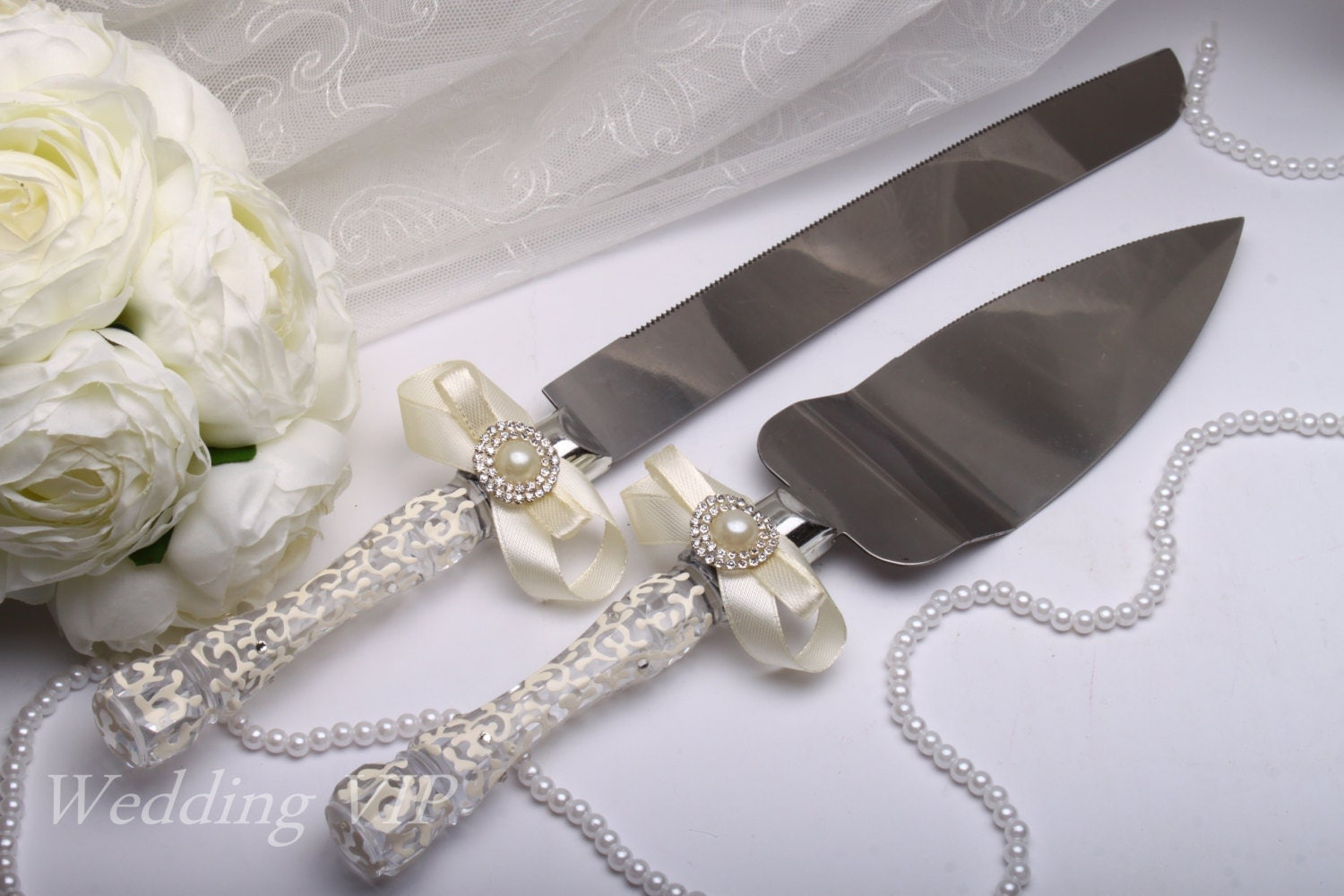 wedding cake cutters wedding cake knife wedding cake cutting set cake by vizzara 8610