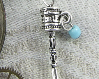 Set of (6) Tibetan Prayer Wheel Charms, 6 per package SYM063
