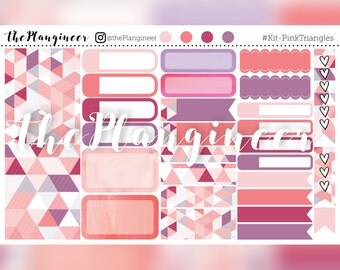 Pink Triangles - 33 Kit Stickers