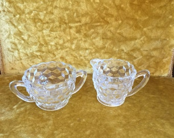 Fostoria Sugar Bowl & Creamer