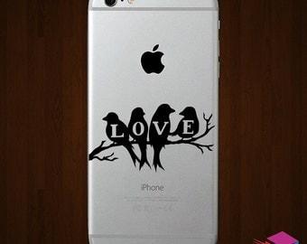 Love Birds iPhone Vinyl Monogram