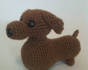 Crochet Dachshund dog