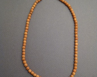 Coral on gold chain necklace 13""