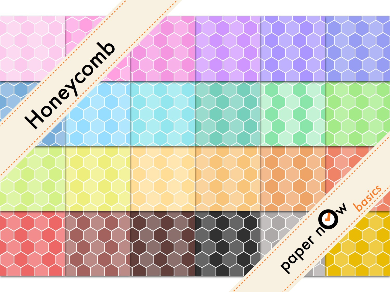 24 bee digital paper bee hive digital paper honeycomb digital