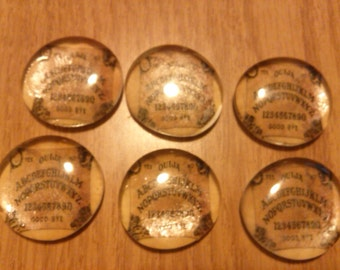 Ouija Board Glass Magnets