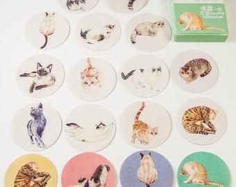 40 sticker set / cats / DIY Filofaxing scrapbooking Aufkeber
