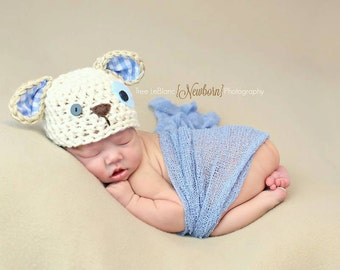 CROCHET PATTERN ONLY - Puppy Beanie - Crochet Puppy Hat - Available in all sizes - Cute Puppy Luv Beanie Crochet Pattern - Dog Hat