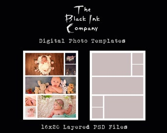 16 x 20 Collage Template #7