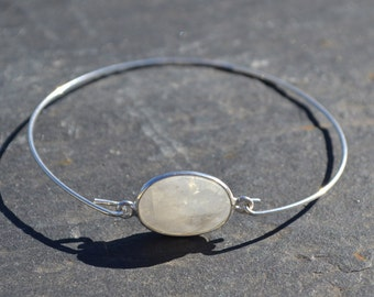 Sterling silver rigid bracelet