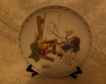 Norman Rockwell collectors plate 1980 The Artist's Daughter