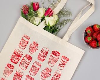 Jam Jars Red Tote Bag
